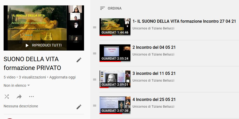 Suono della vita Youtube
